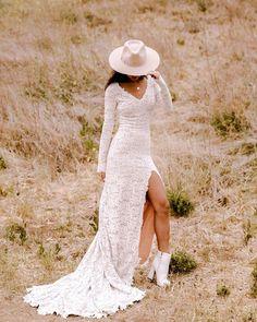 30 Totally Unique Fashion Forward Wedding Dresses ❤ fashion forward wedding dresses lace with long sleeves boho wearyourlovexo #weddingforward #wedding #bride #weddingoutfit #bridaloutfit #weddinggown