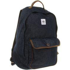Adidas Backpack campus denim dark indigo strong brown ( 78) ❤ liked on  Polyvore Adidas 33ff64ae7