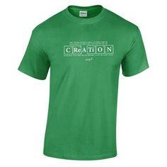 708225fa 'Creation'- Men's T-Shirt Christian Clothing, Christian Humor, Mens Tops