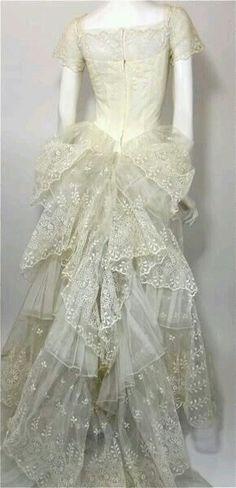 Vintage Lace Dress Back View