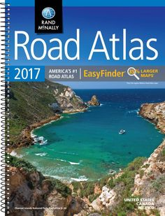 United States, Canada and Mexico, 2017 Midsize Deluxe Easy to Read Road Atlas by Rand McNally
