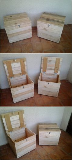 If you know fully about the usage of the wood pallet in favorable aspects then you have the perfect idea of creating wood pallet stylish storage boxes from it. You can use various sizes of the wood pallet storage boxes as for the storage purposes or you can even make the use of it for throwing garbage.