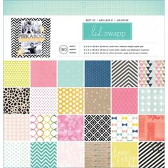 HEIDI SWAPP - PAPER PAD 12X12 - BEST OF HEIDI SWAPP Pakken inneholder 180 mønsterark, 60 ulike mønsterark - 3 av hvert design. American Crafts-Best Of Heidi Swapp Paper Pad. The perfect addition to all your scrapbooking projects and more! This package contains 180 12x12 inch single-sided sheets in sixty different patterns (three of each pattern). Acid free. Archival quality.