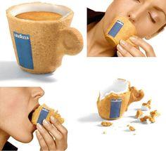 Una tassa comestible. Nou packaging per cafès.