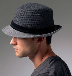 Vintage Fedora / Rockabilly / Bee Hats / Charcoal / Mad Men ...