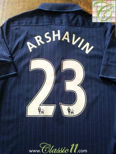 9bd5a5e61f2 2009 10 Arsenal Away Premier League Football Shirt Arshavin  23 (M)