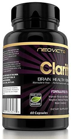 Brain Supplement Nootropic – Mind & Energy Booster – Clarity by Neovicta – Improve Focus, Memory & Mood – Promotes Superior Brain Function in Men & Women – 30 Day Supply