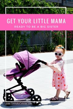 Seriously though, if you are pregnant and need a little help teaching your babe the responsibilities of being a big sister this stroller is perfect for that. OR if your little mama loves babies and needs an excuse to look super cute walking around town, this works great for that too.  -- Triokid 2 in 1 Deluxe Baby Doll Stroller Sportline X1 Grape Purple Drawable Fabric with Swiveling Wheels & Adjustable Handle || http://ohhelloceleste.com/hey-there-little-mama/
