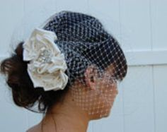 Custom Bridal Head Piece Veil or Fascinator by Bean and the Sprout | Hatch.co