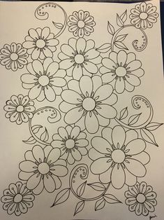 55 Flower Designs: For Cross Stitch, Canvaswork and Crewel Embroidery - Embroidery Design Guide Mexican Embroidery, Crewel Embroidery Kits, Embroidery Needles, Hand Embroidery Patterns, Ribbon Embroidery, Embroidery Tattoo, Broderie Bargello, Quilling Patterns, Fabric Painting
