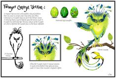 Concept art of a Fwooper, a creature from J.K.Rowling's 'Fantastic Beasts And Where To Find Them' book. I did this in 2012 at the start of the Pottermore work I did for PlayStation Home on PS3.