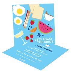 Bridal Shower Invitation Ideas: Brunch theme #bridalshower #wedding #peartreegreetings