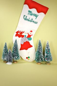 1950s Christmas Stocking Vintage by Rue78Vintage on Etsy, $16.00