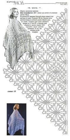 Crochet Shawl Wrap Free Knitting 52 Ideas For 2019 Crochet Shawl Diagram, Crochet Chart, Crochet Motif, Crochet Lace, Crochet Stitches, Crochet Patterns, Crochet Shawls And Wraps, Crochet Scarves, Crochet Clothes