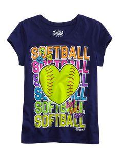 Softball shirt from Justice, I love softball!