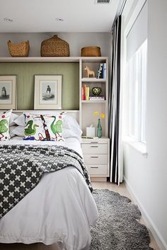 Storage and built ins in small space bedroom. Design by Toronto designer Jill Greaves via: desire to inspire