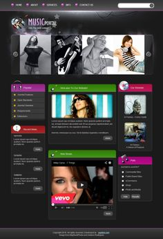 Music Portal Joomla Template 300110811 by Dynamic Template
