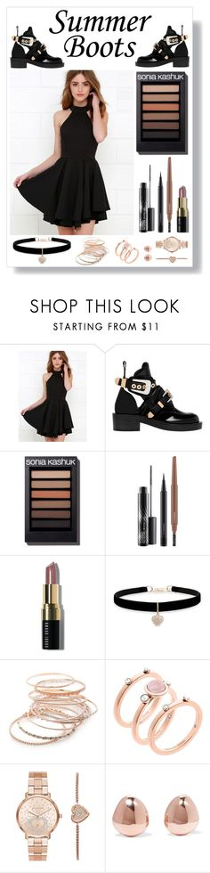 """Rose Gold Chic..."" by sammie-style ❤ liked on Polyvore featuring Balenciaga, MAC Cosmetics, Bobbi Brown Cosmetics, Betsey Johnson, Red Camel, Michael Kors and Monica Vinader"