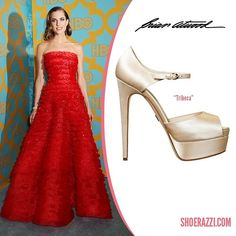 Allison Williams wore Brian Atwood Tribeca sandals to the HBO Golden Globes After-Party