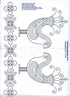 (106) Gallery.ru / Фото #28 - 1978-04 - spreefrosch Tambour Embroidery, Embroidery Works, Embroidery Motifs, Silk Ribbon Embroidery, Hand Embroidery Designs, Felt Patterns, Bird Patterns, Pattern Books, Pattern Art
