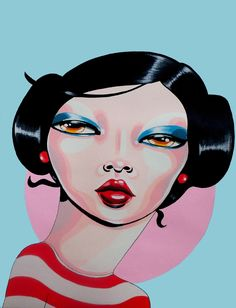 TIKKA Acrylic On Paper 30x40 cm  #art #painting #portrait