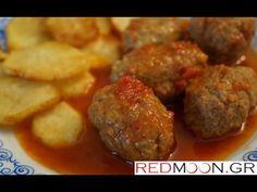Σουτζουκάκια Σμυρνέικα (Meat ball recipe from Smyrna english subs) Ground Meat, Balls Recipe, Greek Recipes, Ethnic Recipes, Food, Ground Beef, Meals, Yemek, Eten