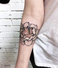 "4,948 Likes, 53 Comments - Tattoo artist Moscow (@katyageta) on Instagram: ""Thanks to Alya ✨ #mysketch #tattooart #dotwork #tattoosketch #blackwork #flowertattoo #linework…"""