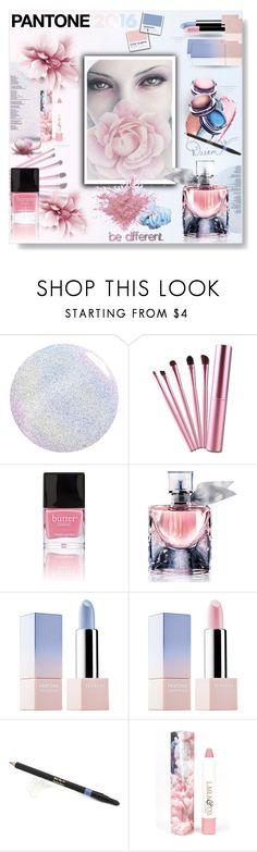 """Pantone 2016 Rose Quartz & Serenity..."" by desert-belle ❤ liked on Polyvore featuring beauty, Butter London, Lancôme, MAKE UP FOR EVER, Sephora Collection, Elizabeth Arden and LAQA & Co."