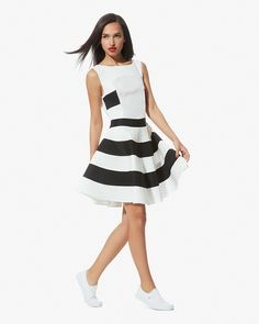 Le Mont Saint Michel Stripe Dress