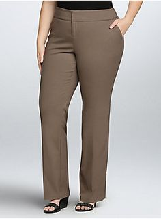 Monday mornings just got that much easier. You'll never stress over what to wear to work again with these slim boot trousers. The super-stretchy and lightweight fabric will keep you comfy all day at your desk, and the taupe color is endlessly versatile.