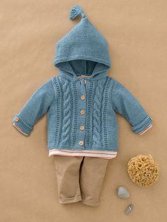 Elois jakke mnd i Phil Rustique Sarees, Baby Knitting, Knitted Baby Cardigan, Threading