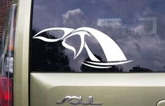 Whales Tail in A Heart Die Cut Vinyl Car Window Decal Bumper Sticker US Seller