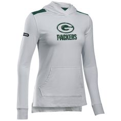 5f69050e3 NFL Combine Authentic Packers Women's Hooded Top Packers Pro Shop, Go Pack  Go, Green