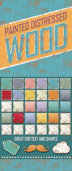 Distressed Painted Wooden Styles  #GraphicRiver         These distressed styles will give text and objects the look of aged painted wood.   Graphic styles allow you to quickly change the look of an object. All the changes are applied with just one click!   I've included 31 different styles but you can create your own color combinations. The patterns can also be used separately.   Included in the download:   31 Photoshop ASL styles  12 pattern swatches  Instructions    Also available for…