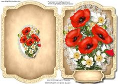 Print Cut and Fold Beautiful Poppy s and Blossom on Craftsuprint - Add To Basket! Lilac Roses, Beautiful Pink Roses, Christmas Card Crafts, Christmas Projects, 3d Collage, 3d Sheets, Crafts To Make And Sell, Quick Cards, Flower Frame