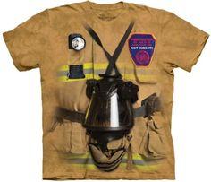 Trabalho-De-Bombeiro-Fire-Dept-Camiseta-Adulto-Unissex-Mountain