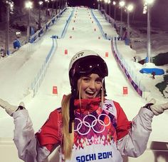 Canadian Justine Dufour-Lapointe. Gold medal winner in women's moguls. Sochi 2014 Olympics.