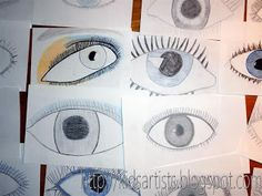 You need: drawing sheet size colour pencils See each other's eyes. What components does an eye have? How is the shape of an ey. Artists For Kids, Art For Kids, Oil Pastel Crayons, 8th Grade Art, Black Construction Paper, Drawing Sheet, Liquid Watercolor, Student Drawing, Arts Ed