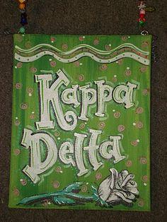 Sorority canvases. Kappa Delta.