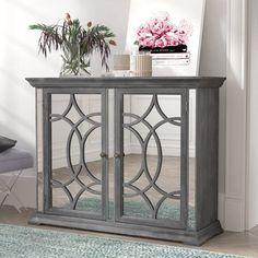 Don't Miss These Deal Fortun 2 Door Cabinet By Willa Arlo Interiors Mirrored Furniture, Mirrored Sideboard, Furniture Sale, Accent Furniture, Dining Furniture, Discount Furniture, Media Room Design, Mirror Cabinets, Console Cabinet