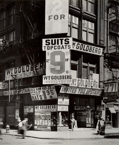 Wm. Goldberg's clothing store. 771 Broadway, New York City, circa 1930s. Photograph by Berenice Abbott