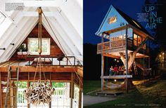 tree house interoiers | This tree house was recently featured in Chicago Home & Garden: