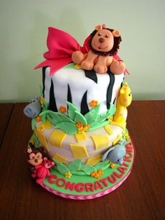 Jungle #BabyShower #cake