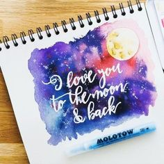 My first play with the @molotowheadquarters masking fluid pen that I got from @simonsaysstamp the other day! A quick watercolor night sky with moon over the top (not the best I've ever done but letting go of imperfection) for the #letteritapril prompt.  I read the children's book 'Guess How Much I Love You' over and over to my eldest. It was one of his favorites and holds a special place in my memories