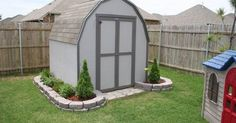 mulch 2 sheds in small backyard - Google Search