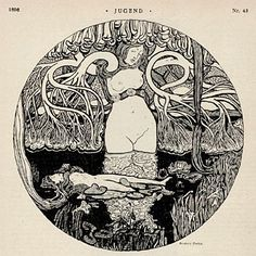 Jugend magazine cover, 1896
