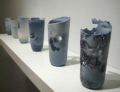 Thomas Schmidt  Ink and Salt Series  2009  Cast Porcelain, Soluble Salts, Ceramic Decals