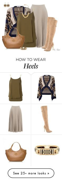 """""""I love/need this skirt!!"""" by ksims-1 on Polyvore featuring Warehouse, MICHAEL Michael Kors, Kristin Cavallari and Tory Burch"""