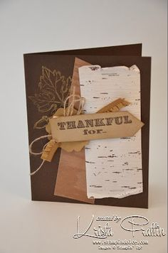 Stampin' Dolce: Thankful Card. Thankful tablescapes simply created kit & Thankful stamp