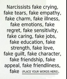 Fake everything- Fake parent's, Grandparents, fake everything and rotten inside.